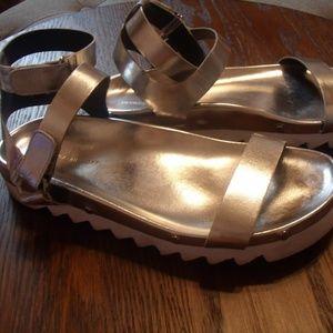 Rebecca Minkoff Silver/ White Sandals